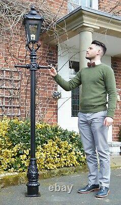 USED Ex-Display 2.3m Victorian Lamp Post + Lantern Reclaimed Garden Lighting Set