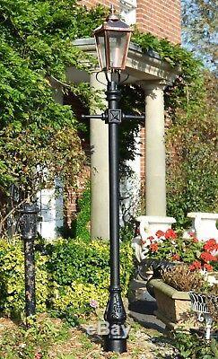 USED Ex-Display 2.7m Copper Cast Iron Victorian Garden Lamp Post + Lantern Set