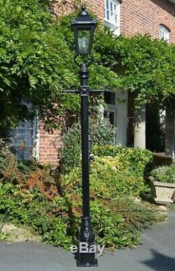 USED Ex-Display 2.7m Tall Black Victorian Garden Lamp Post Garden Street Light
