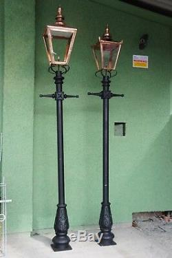 USED Ex-Display Extra Large Copper and Cast Iron Victorian Garden Lamp Posts