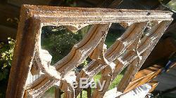 Unique Antique Mirror Victorian Gothic Cast Iron Window 42.75 by 17.75