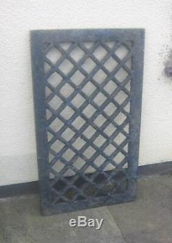 Very Old Original Victorian Cast Iron Grid Grill Grate Over Cellar Light Etc