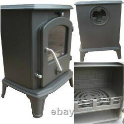Victoria Cast Iron Stove Small Fireplace Multifuel Woodburning Log Burner Heater