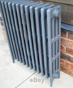 Victorian 4 Column Cast Iron Radiator 12 Sections 810mm Tall Next Day Delivery