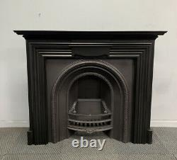 Victorian Antique Cast Iron Fireplace + Fire Surround, Delivery Free / £35 Uk