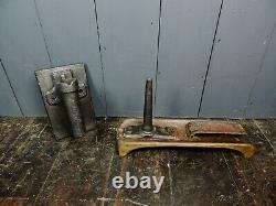 Victorian Antique Cast Iron & Oak Equestrian Horse Saddle Rack & Bridal Hook