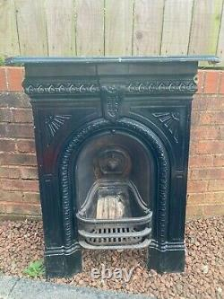 Victorian Cast Iron Arched Bedroom Fireplace black