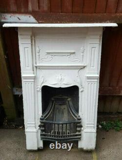 Victorian Cast Iron Fireplace Antique Vintage Bedroom