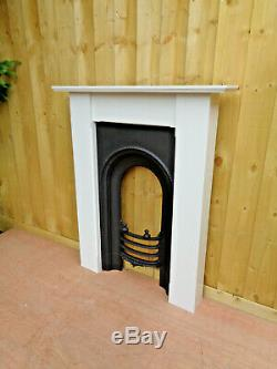 Victorian Cast Iron Fireplace Insert + Surround Painted Farrow & Ball