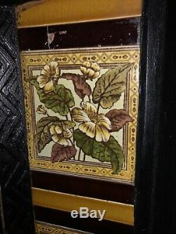 Victorian Cast Iron Fireplace With Decorative Tiles