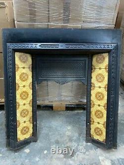 Victorian Cast Iron Fireplace insert with original tiles