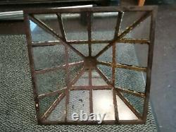 Victorian Cast Iron Lantern Garden Cloche Top Glazed & Weathered