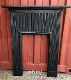 Victorian Cast Iron Reeded Fire Surround FITS FLAT WALL DELIVERY £35 Most Uk