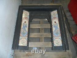 Victorian Cast Iron Tiled Fireplace Surround