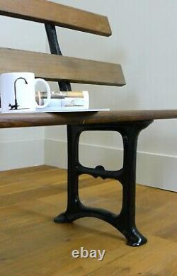 Victorian Cast Iron and Pitch Pine Church Pews Bench C1870