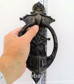Victorian Door Knocker Kenrick Cast Iron No 416 Gothic design 9.1/2 x 4.1/2