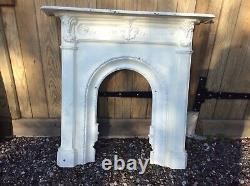 Victorian / Edwardian Cast Iron Fire Surround And Mantle