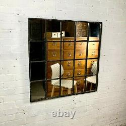 Victorian Industrial Factory Cast Iron Window fitted with Mirror Glass
