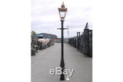 Victorian Lantern Lamp Post Top Garden Lighting 4 Finishes Cast Iron Post
