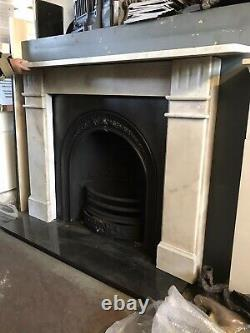 Victorian Marble Fireplace Surround And Cast Iron Insert