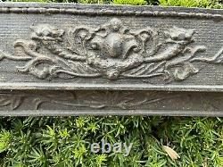 Victorian Ornate Heavy CAST IRON Fireplace Grate Insert Antique Architecture