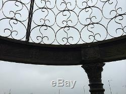Victorian Style Cast Iron Gazebo Architectural Bandstand Gazebo Pergoda