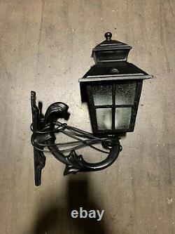 Victorian Style Cast Iron Lamp Post & Twin Lights