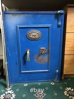 Victorian Vintage Whitfield & Co Cast Iron Floor Safe
