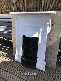 Victorian cast iron bedroom fireplace