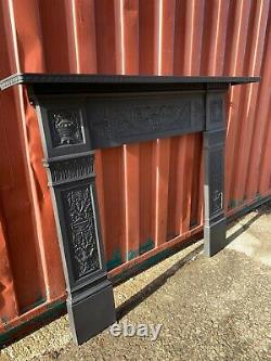 Victorian cast iron fire Surround Suit Woodburner DELIVERY FREE OR £35 Uk