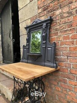 Victorian cast iron fireplace mirror art FREE DELIVERY or £25 Uk