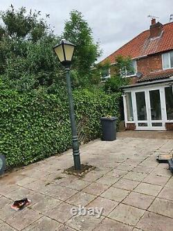 Victorian cast iron lamp post