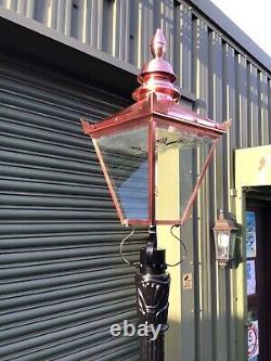 Victorian cast iron lamp post and top. Very Few Left In stock