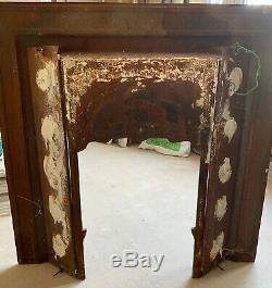 Victorian cast iron tiled fire / fireplace