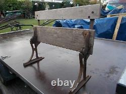 Victorian childs bench folds up very pretty barn find cast iron
