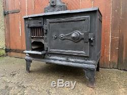 Vintage Antique Victorian P. J. DREW LTD Fire Cast Iron Range Cooking Stove