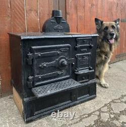 Vintage Antique Victorian THE GUINNESS Cast Iron Range Cooker Stove