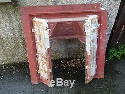 Vintage CAST & TILED VICTORIAN Fire Place Surround Mantel ORIGINAL PIECE