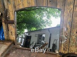 Vintage Cast Iron Industrial Metal Mirror Window One Pane