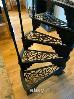 Vintage Cast Iron Spiral Staircase Heavy Duty Victorian Style Tread