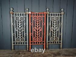 Vintage Reclaimed 3 Section of Cast Iron Railings